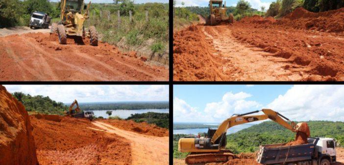 Moradores da região do Água Boa já comemoram início da pavimentação
