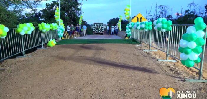 Ponte de concreto sobre o Igarapé Jandiá é inaugurada